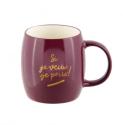 "Mug ""si je veux je peux"" de..."