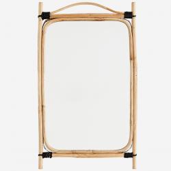 Miroir cadre bambou, dim....