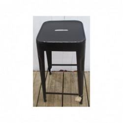 Chaise de bar en métal - noire
