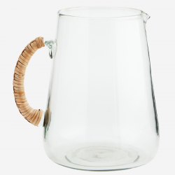 Pot à eau verre et bambou,...