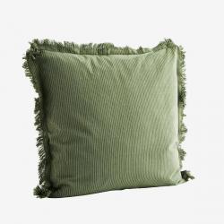 Coussin coton vert  jade et...