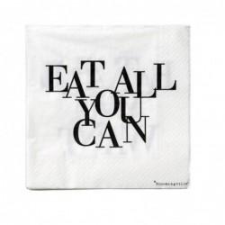 """Serviettes en papier """"Eat..."""