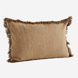 Coussin lin 40x60 sucre brun