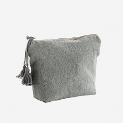 Trousse maquillage coton gris