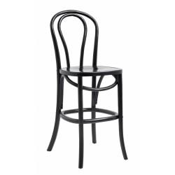 BISTRO chaise de bar bois noir