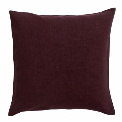 "Coussin ""Burgundy"" coton"