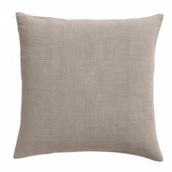 """Coussin """"gris-beige"""" coton"""