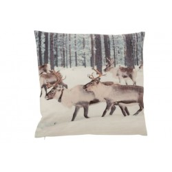 Coussin Renne polyester...